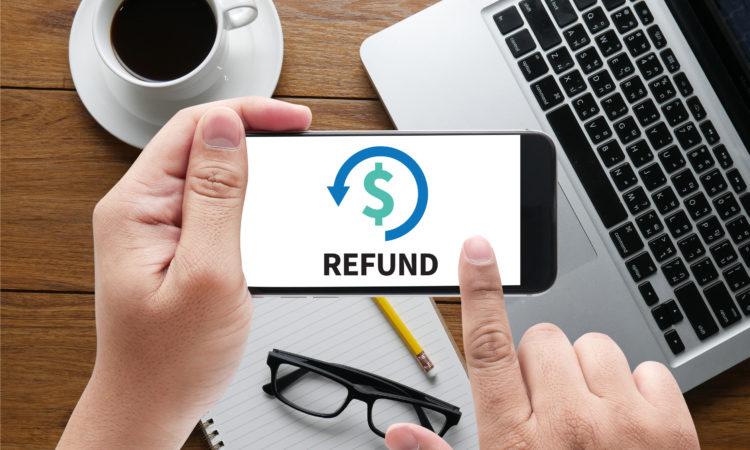 Post-event refund